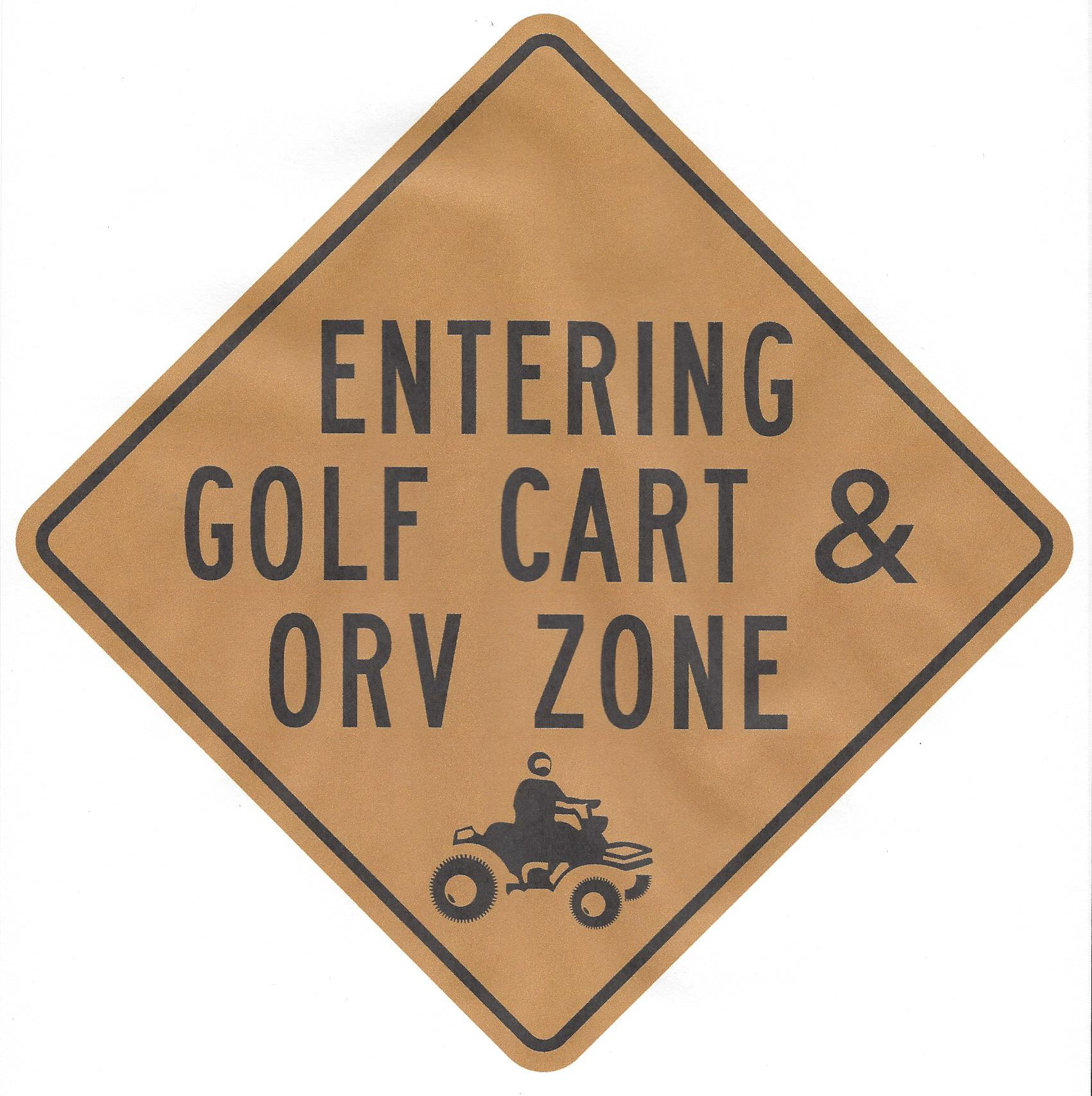ORV-Golf-Cart-sign